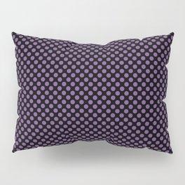 Black and Royal Lilac Polka Dots Pillow Sham