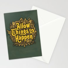 Allow Things to Happen Stationery Cards