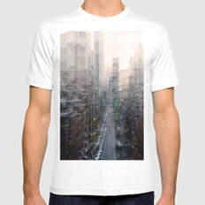 Lower East Side White Mens Fitted Tee MEDIUM