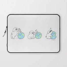 Mochi the pug celebrating Earth day Laptop Sleeve
