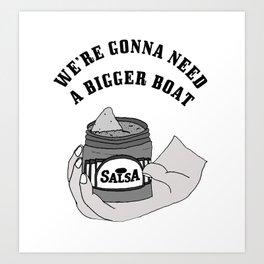 Salsa Shark Art Print