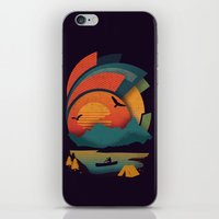 explore iPhone & iPod Skins featuring Explore by The Child