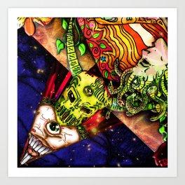 Intergalactic Guardian Constantin Art Print