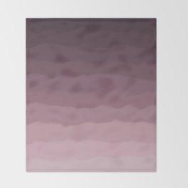 Gray Heather Fluff Gradient Throw Blanket