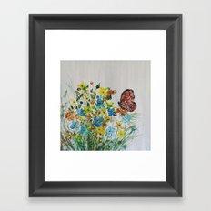Mahogany Butterfly Framed Art Print