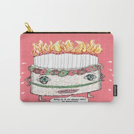 Why is it so damn HOT in here?!!! pink Carry-All Pouch