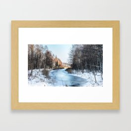 Frozen River Framed Art Print