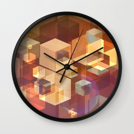 Squares and light leaks pattern Wall Clock