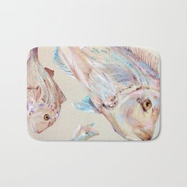 Pink Snapper Fish Bath Mat