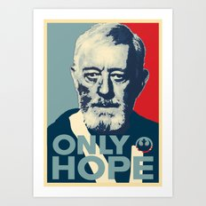 OBI WAN the Only Hope Art Print