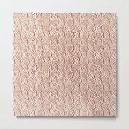 Ecru Knit Textured Pattern Metal Print