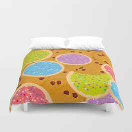 Frosted sugar cookies, Chocolate chip cookie, Italian Freshly baked sugar cookies Duvet Cover