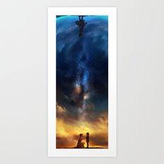 Loki & Frigga Art Print