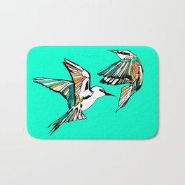 Dancing Rainbow Bee Eater Birds Bath Mat