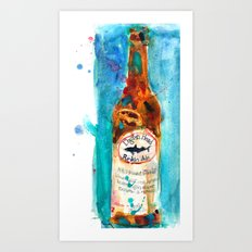 Dogfish Punkin Beer Art Print
