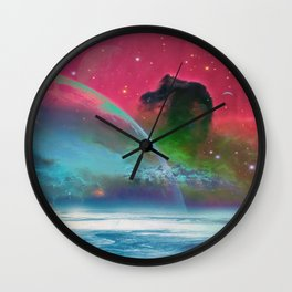 Behind the mirror Wall Clock