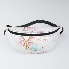 Love Butterflies Watercolor Illustration Fanny Pack