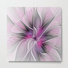 A Blooming Dream, Abstract Fractal Art Metal Print