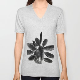 Black White Cactus #1 #plant #decor #art #society6 Unisex V-Neck