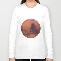 mars Long Sleeve T-shirts featuring Mars by Tobias Bowman