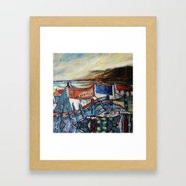Irish landscape.acrylic on canvass Framed Art Print