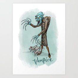 Vampire illustration Art Print