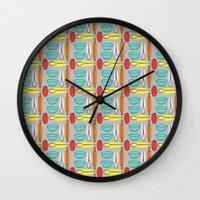 baking Wall Clocks featuring Baking Pattern by Britt Clifton