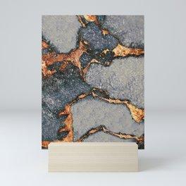 GEMSTONE GREY & GOLD Mini Art Print