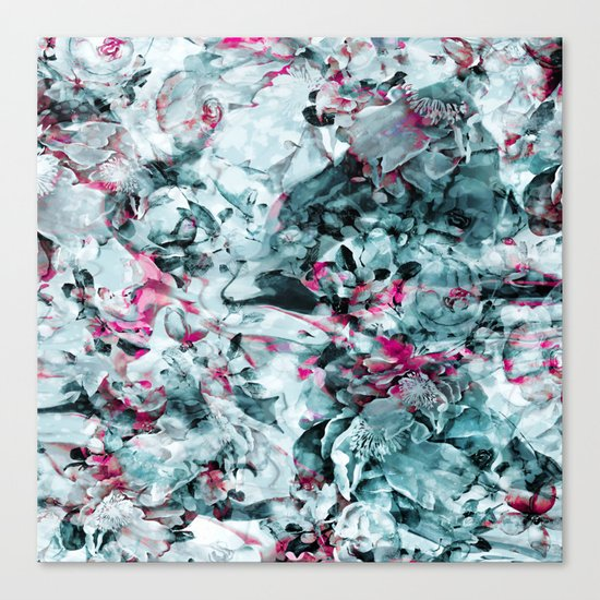 FLORAL WAVES Canvas Print