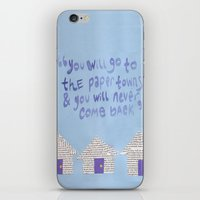 paper towns iPhone & iPod Skins featuring paper towns  by cgold