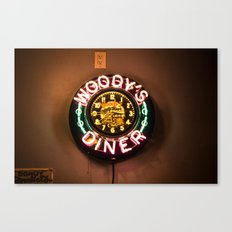 Woody's Diner Canvas Print