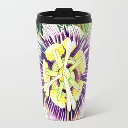 Passiflora edulis f. flavicarpa – Liliko'i, Water Color Travel Mug