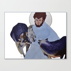 Saint with Wolves Canvas Print
