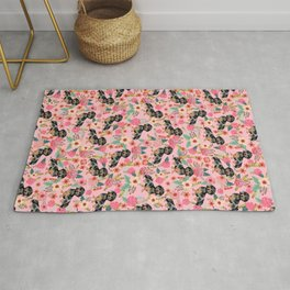 Dapple Dachshund doxie lover floral must have gifts dachsie flowers Rug