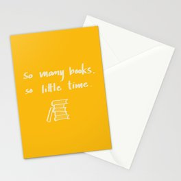 So Many Books. So Stationery Cards