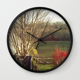 Autumn Farm Wall Clock
