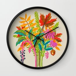 Fall Bouquet Wall Clock