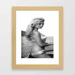 B.B. in bikini Framed Art Print