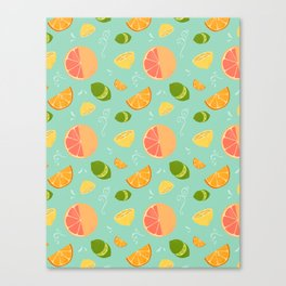 Les Agrumes (Citrus) Pattern Canvas Print