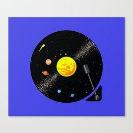 Solar System Vinyl Record Canvas Print