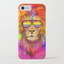 Rainbow Lion Pride iPhone Case