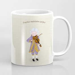 Young Mozart Playing Violin: Practice Maintains Perfect Coffee Mug
