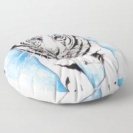 White Tiger Floor Pillow
