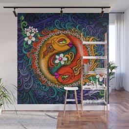 Yin Yang Koi Wall Mural