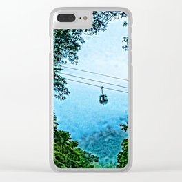 Travelling the mist Clear iPhone Case