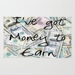 Money to earn (law of attraction affirmation) Rug