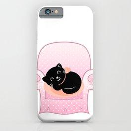 Cat sleeps on Sofa Vector cartoon Illustration iPhone Case