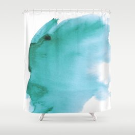 Turquoise Watercolor Splash, Abstract Colorful Ink Splatter Shower Curtain