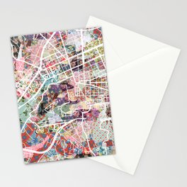 Vatican map Stationery Cards