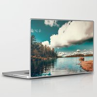 gray Laptop & iPad Skins featuring Belle Svezia by HappyMelvin